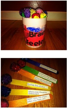 Brain Feelers [for after-reading evaluation]. what a wonderful idea from Miss Knight.