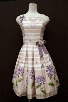 Innocent World / 紫陽花と蝶ジャンパースカート