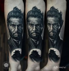 Samurai Portrait Tattoo by AD Pancho Rock N' Roll Tattoo & Piercing Katowice Poland http://tattoopics.org/samurai-portrait-tattoo-by-ad-pancho/ #tattoo #samurai #samuraitattoo #portrait #ink #tattoopic #pictures #blackgrey