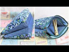 ポーチ作り方 ダブルファスナーポーチ作り方 Twin Pouch Tutorial how to make a pouch. Coin Purse Tutorial, Zipper Pouch Tutorial, Tote Tutorial, Tutorial Sewing, Patchwork Quilt, Patchwork Bags, Bag Pattern Free, Pouch Pattern, Handbag Patterns