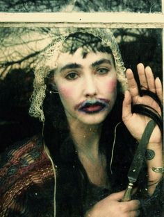 bianca from cocorosie on a plain white tank top would be so cute
