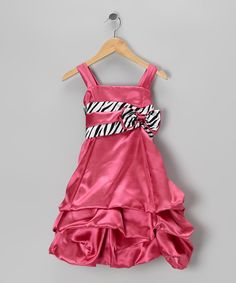 Take a look at this Fuchsia Zebra Pickup Dress - Toddler & Girls on zulily today!