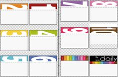 Free printable daily journaling cards