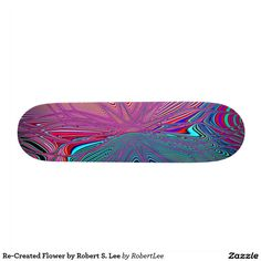 Re-Created Flower by Robert S. Lee Skate Board Decks Re-Created Elements by Robert S. Lee Skateboard Deck #Robert #S. #Lee #skateboard #board #decks #skater #design #colors #customizable #re-created