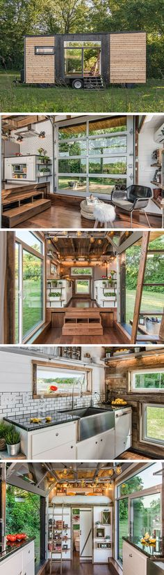 Container House - Juste par ce quelle est belle. Mais lespace salon est inexistant. La cuisine est sympa (sauf ce frigo géant). The Alpha tiny house by New Frontier Tiny Homes. - Who Else Wants Simple Step-By-Step Plans To Design And Build A Container Home From Scratch?