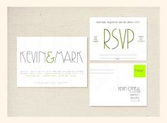 Minimalist+Typography+Wedding+Invitation+&+RSVP+by+LBFStudio,+$2.00