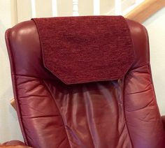 Chair Covers For Headrest Seat Cushions Dining Chairs 25 Best Cover Pad Images Power Recliner Burgundy Chenille By Chairflair Upholstery