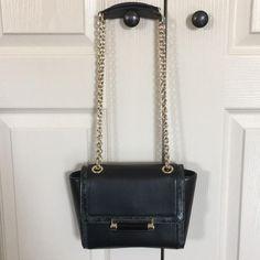 c4891e05177f Diane von Furstenberg 440 Mini Snake-embossed Trim Black Leather Cross Body  Bag 76% off retail