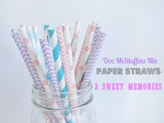 Doc McStuffins/Abby Cadabby Paper Straws Party Mix- Pack of 25 on Etsy, $3.50