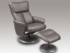 Fabulous Father's Day Fift.... Birlea Orlando Brown Faux Leather Recliner Chair with Footstool