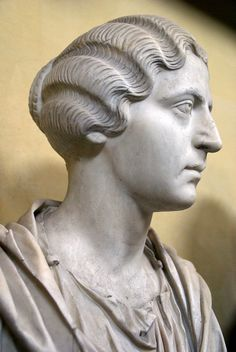 Vatikanische Museen, Museo Chiaramonti, Frisurenmode im alten Rom 3. Jh. n. Chr. (antique Roman hair style, 3rd century A.C.)
