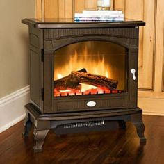 Dimplex Lincoln Bronze Electric Fireplace Stove with Remote Control - Electric Stove Fireplace, Electric Fireplaces Direct, Traditional Decor, Traditional Kitchen, Traditional House, Stove Heater, Thing 1, Fireplace Inserts, Country Decor
