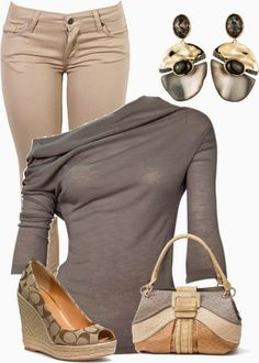 Asymmetrical shirt, skinny jeans and platform wedge shoes