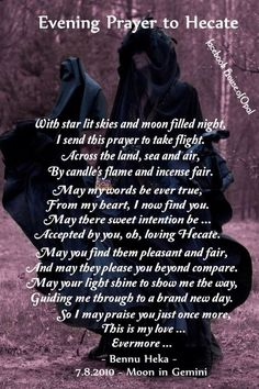 Evening Prayer to Hecate – Witches Of The Craft® Magick Spells, Wicca Witchcraft, Pagan Witch, Moon Spells, Hecate Goddess, Goddess Art, Moon Goddess, Paranormal, Evening Prayer