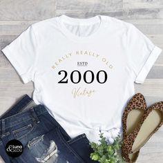 70th Birthday Parties, 20th Birthday, Birthday Shirts, Shirts For Teens, T Shirts For Women, Christian Shirts, Unisex Fashion, My T Shirt, Mens Tees