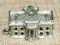Vintage Sterling Silver Charm 3D White House Stanhope No View 2U | eBay