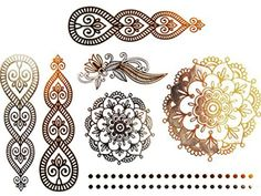 Novoskins Tattoo Artist Gold and Silver Foil Temporary Tattoo Jewellery transfer Mandala Ornamental Flower Circle Henna Collection Set - http://www.yourdreamtattoos.com/novoskins-tattoo-artist-gold-and-silver-foil-temporary-tattoo-jewellery-transfer-mandala-ornamental-flower-circle-henna-collection-set/?utm_source=PN&utm_medium=http%3A%2F%2Fwww.pinterest.com%2Fpin%2F368450813235896433&utm_campaign=SNAP%2Bfrom%2BYour+Dream+Tattoo