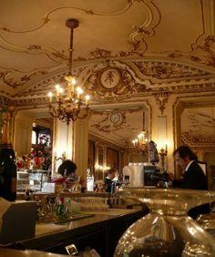 historic Caffè Platti, since Turin Turin, Cafe House, Italian Beauty, Cafe Shop, Restaurant Bar, Italy Travel, Interior And Exterior, Art Nouveau, Ceiling Lights