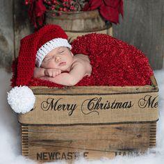 Newborn Santa Hat Hat Newborn Hat Baby Santa by StitchBuyStitch