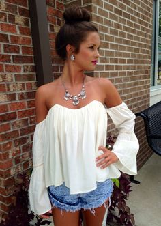 Boho off shoulder top