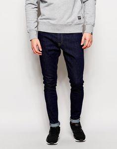 Jeans von Hoxton Denim reiner Baumwolldenim abgesetzte Nähte Reißverschluss fünf Taschen enge Passform Maschinenwäsche 100% Baumwolle unser Model trägt 32 Zoll/ 81 cm Normalgröße und ist 185,5 cm/ 6 Fuß 1 Zoll groß