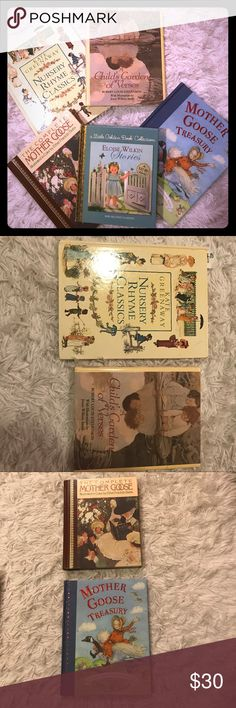 """Children's Classic Mother Goose/Nursery Rhymes Bdl 5 children's books containing classic nursery rhymes, stage stories of Mother Goose, and a """"Little Golden Book"""" collection. You can't find a better price to help you create long lasting memories with your little ones! Other"""
