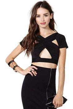 61d45a343a Nasty Gal Azalea Crop Top Cheap T Shirt Dresses