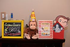 Project Nursery - Curious George Welcome Sign & Framed invite