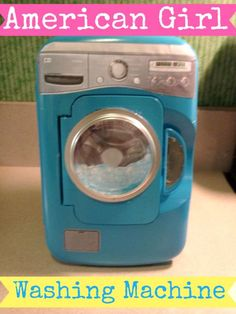 Little Known Ways to Make Doll Clothes Yourselves American Girl Washing Machine American Girl House, American Girl Crafts, American Girls, American Girl Doll Things, American Girl Accessories, Doll Accessories, Dollhouse Accessories, Ag Dolls, Girl Dolls