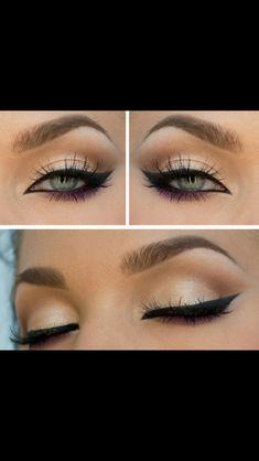 Cat eye makeup  Bronze and Black!