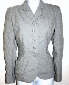 40s Gray Gorgeous Art Deco Tailored Blazer fitted Jacket