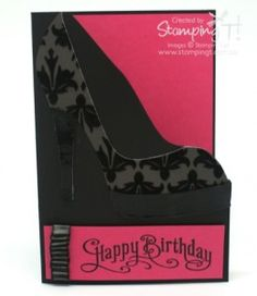 Stampin' Up! Stamping T! – High Heel Shoe Card – Modified DSP