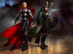 Thor with Loki Concept art Marvel Avengers Comics, Marvel Avengers Assemble, Marvel Films, Marvel Dc, Avengers Art, Avengers Crafts, Avengers Costumes, Avengers Outfits, Loki Thor