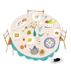 Breakfast illustration by Katy Pillinger Designs
