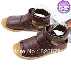 Summer male leather sandals male sandals open toe casual sandals men's US $75.00