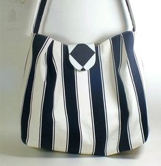 Black and White Cotton Tote Bag by LadyAstarte on Etsy #etsyspecialt