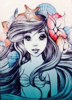 The little mermaid. Soooo wish I could draw like this!