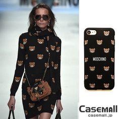 MOSCHINO iphone7 7PLUSケース クマ iphone8 ケース モスキーノ TPU製 iphone7sケース 可愛い 熊 キャラクターケース