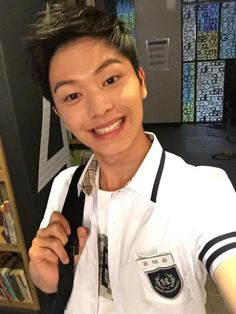 Derpy Sungjae at Who are You: School 2015 kdrama filming. Hwaiting!