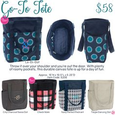 Go-To Tote by Thirty-One. Fall/Winter 2016. Click to order. Join my VIP Facebook…
