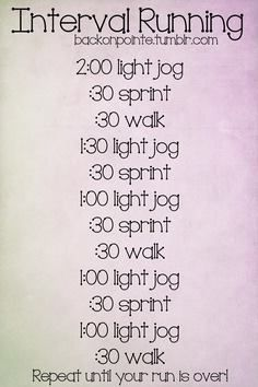 I might have to do this... I feel like my body is getting used to the 'run'/light jog I always run...