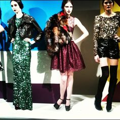 Red, green or gold #sequins? Little luxuries from the @alice_olivia F/W '12 #fashion week presentation. #style