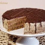 Pomarančovo-orechová torta s čokoládovým krémom - NajRecept. Tiramisu, Food And Drink, Cooking Recipes, Ethnic Recipes, Cooker Recipes, Chef Recipes, Recipes, Recipies