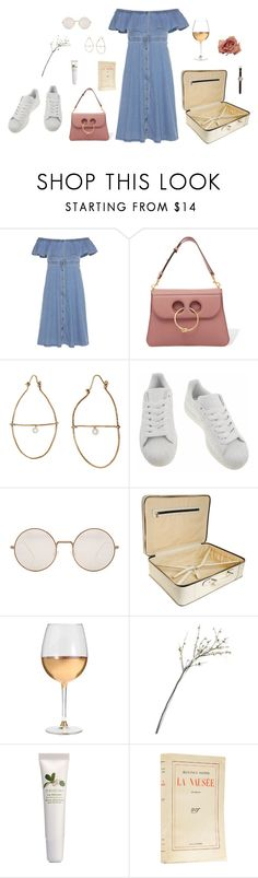 """s p r i n g b r e a k"" by lazybambina ❤ liked on Polyvore featuring Tommy Hilfiger, J.W. Anderson, Julie Wolfe, adidas, Illesteva, Valextra, Marc Blackwell, Crate and Barrel, Origins and Shinola"