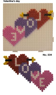 Valentines Day - LOVE hama perler pattern - Club Hama