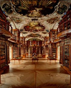 The Library of St. Gallen Abbey, Switzerland - I can't wait for the day when I'll be able to visit it!