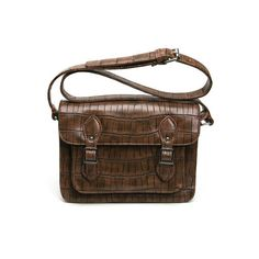 Vintage Rectangular Bag With Pin Buckle Belt Closure ($115) ❤ liked on Polyvore