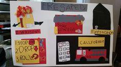 Fire safety poster Fire Safety Poster, Safety Posters, 3rd Grade Homework, School Fun, School Stuff, Kindergarten Posters, Fire Prevention Week, Great Fire Of London, Homework Ideas