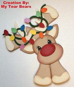 Tocg Premade Reindeer with Lights Paper Piecing by My Tear Bears Kira | eBay