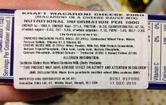 Kraft Mac & Cheese Warning Label Published by NY Times So we should demand warning labels for Americans as well.  We have become too complacent.